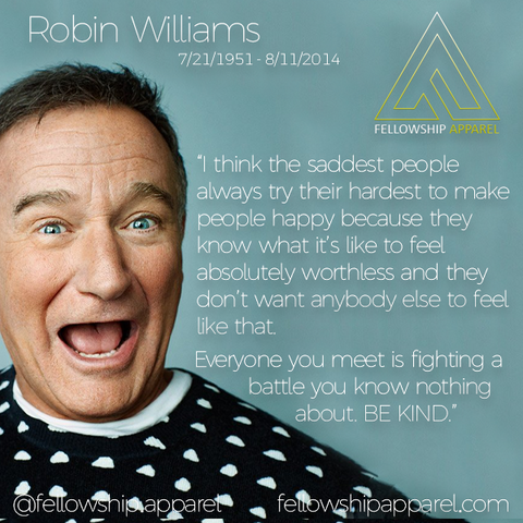 Robin Williams Sober Apparel Recovery Clothing Sobriety Gifts Sober Jewelry AA NA Necklaces T-Shirts Hoodies Tank Tops We Do Recover Addiction Apparel Addicted Addict Mental Illness Mental Health Mental Illness Awareness Drug Free Alcoholism Alcoholic Druggie Sober Living Bill W Bill Wilson Alcoholics Anonymous CA Fellowship Apparel