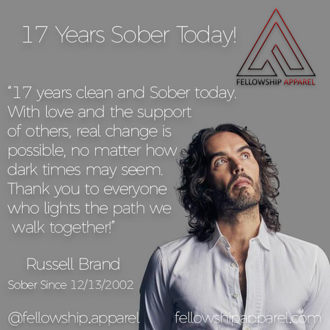 Russell Brand Sober Apparel Recovery Clothing Sobriety Gifts Sober Jewelry AA NA Necklaces T-Shirts Hoodies Tank Tops We Do Recover Addiction Apparel Addicted Addict Mental Illness Mental Health Mental Illness Awareness Drug Free Alcoholism Alcoholic Druggie Sober Living Bill W Bill Wilson Alcoholics Anonymous CA Fellowship Apparel