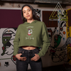 Women's Crop Top Hoodies - Support Your Local Sober Girl Gang