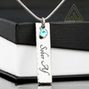 Birthstone Gem Necklace With Personalized Name or Message Option | Fellowship Apparel