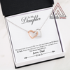 To My Daughter From Dad Interlocking Heart Necklace With Message Card | Fellowship Apparel