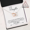 To My Daughter From Mom Interlocking Hearts Necklace With Message Card - Fellowship Apparel