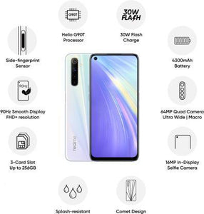 Realme 6 (Comet Blue, 64 GB)  (4 GB RAM)#JustHere