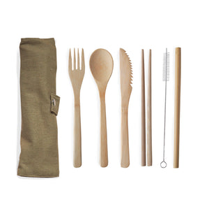 Brown Cutlery Set