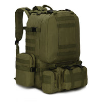 Outdoor 50L Military Rucksacks Tactical Backpack - Armygreen