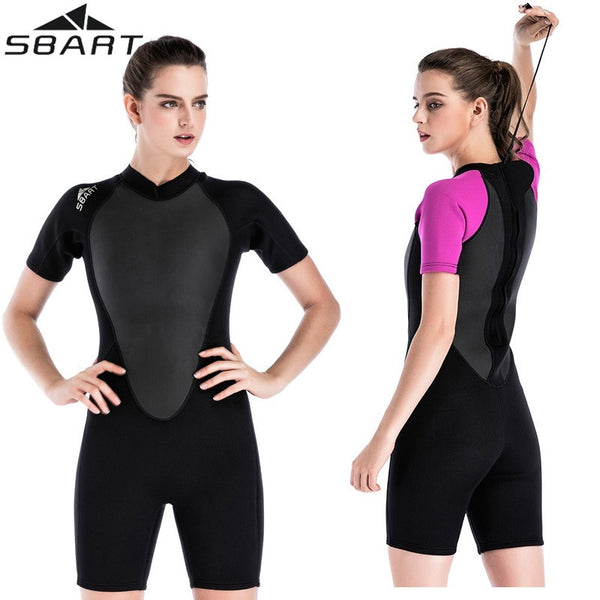 Womens One-Piece Short Sleeve Wetsuit