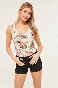 Racerback Tank Top with Lace