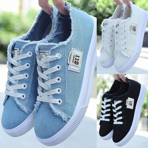2019 Spring/Autumn Casual Canvas Lace-up Flats Shoes