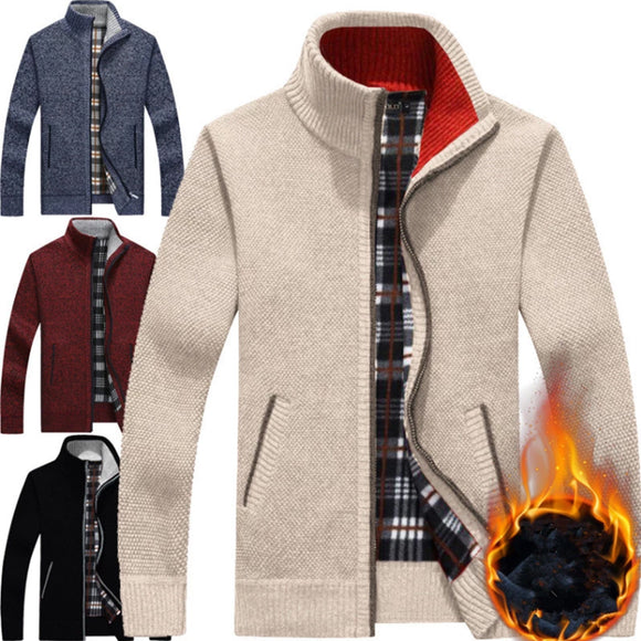 Autumn Winter Warm Fleece Men Knitwear(BUY 2 GET 10% OFF, BUY3 GET 15% OFF)
