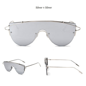 Luxury Rimless Celebrity Metal UNISEX Oversized Sunglasses