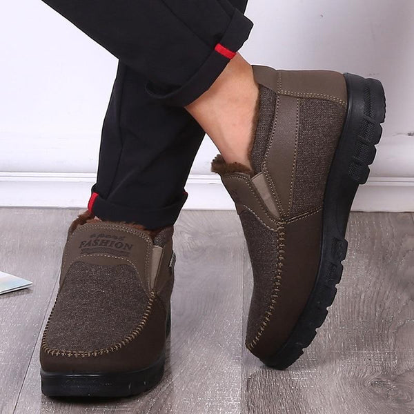 Men's Shoes - Large Size Winter Velvet Warm Casual Snow Boots
