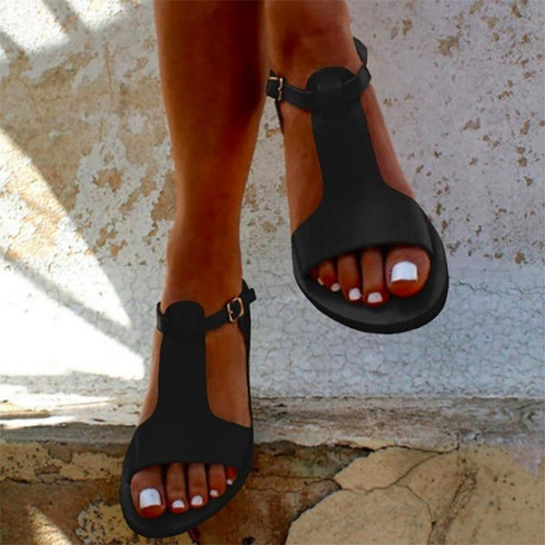 Shoes - Summer Casual Ankle Strap Thong Sandals
