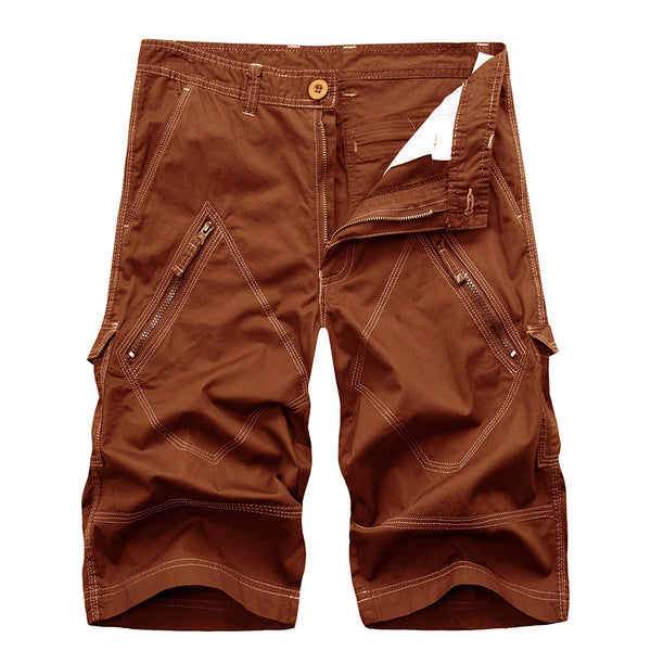 2019 Summer Mens Cotton Solid Cargo Shorts