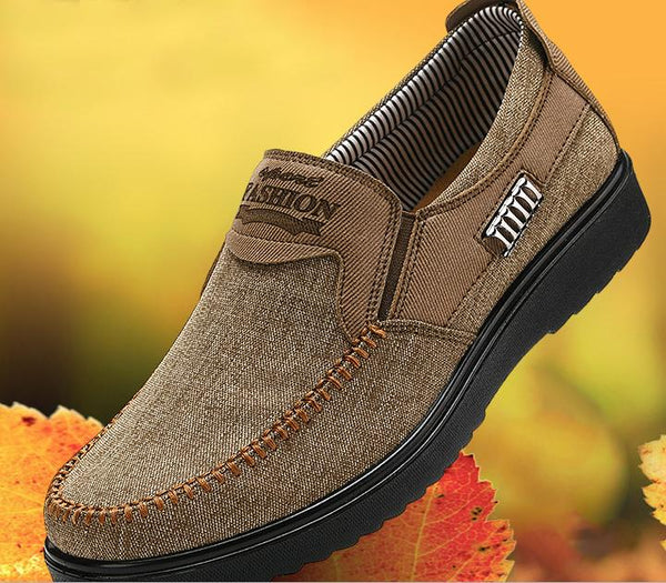 Men's Shoes - Large Size Hand Stitching Slip On Casual Shoes For Men