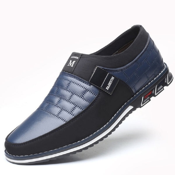 Fashion Men's Leather Slip on Shoes