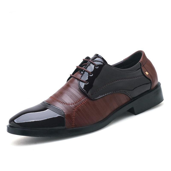 Men's Shoes - 2019 New Men's Luxury Soft Leather Oxford Business Dress Shoes