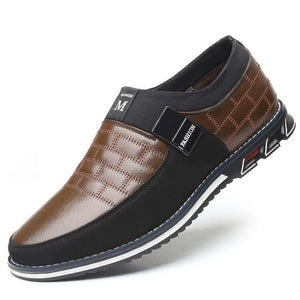 New Big Size Oxfords Leather Slip On Business Shoes