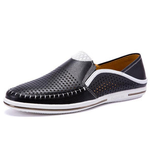 Summer Breathable Casual Genuine Leather Loafers