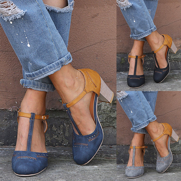 2019 Rome Summer Ladies T-Strap Casual Sandals