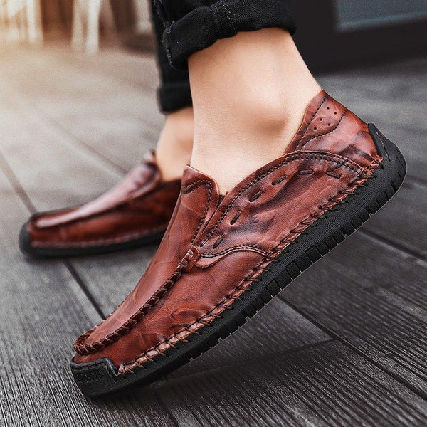 Men Shoes - 2019  Genuine Leather Comfortable Casual Boat Walking Driver Footwear