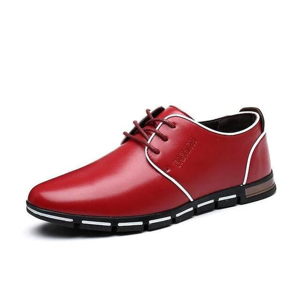 Men's Shoes - 2019 Men's Fashion Lace Up Casual Leather Shoes