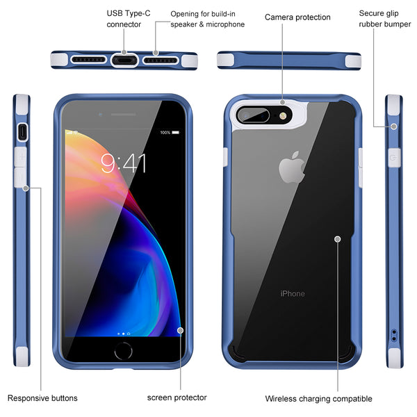 Phone Case - Ultra Thin Capinhas PC & TPU Silicone Cover Case for iPhone X