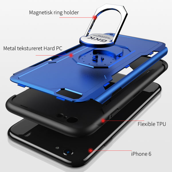 Phone Case - 3 in1 Magnetic Ring Holder Cover for iPhone X XS XS MAS XR