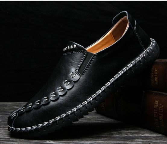 Men's Shoes - Fashion Men's Comfortable Soft Slip On Leather Shoes