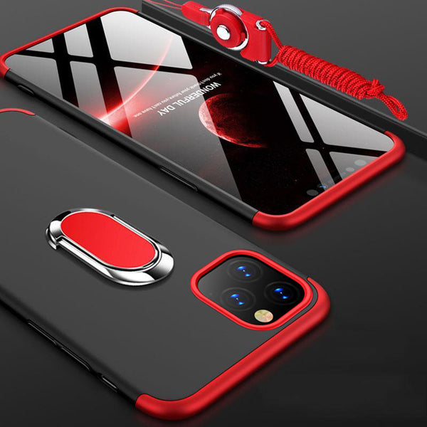 Full Cover 3in1 PC Case For iPhone with Magnetic Bracket