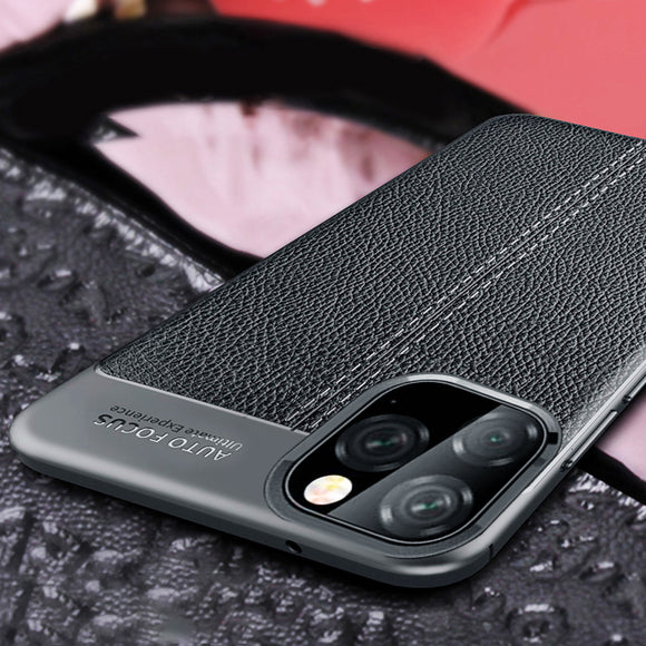 Vintage Luxury Leather Bumper Phone Case on For iPhone