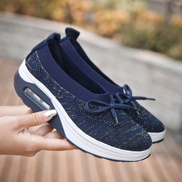 Hottest Fashion Flying Woven Surface Air Cushion Shoes