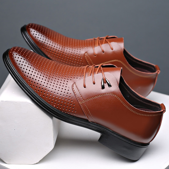 Summer Men Shoes Low Heels Round Toe Comfortable Office Dress Shoes