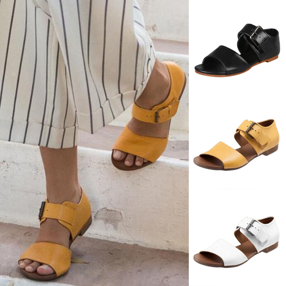 Summer Women's Sandals Fashion Buckle Sandals