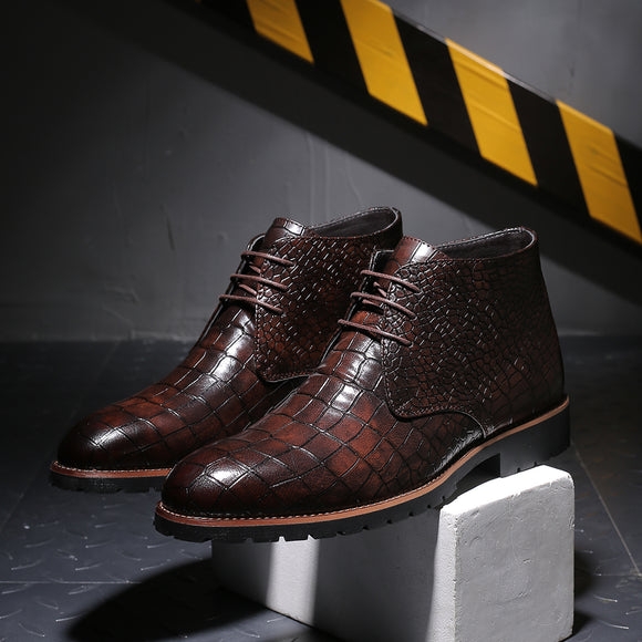 Classic Crocodile Warm Leather Boots(BUY 2 GET 10% OFF, BUY3 GET 15% OFF)