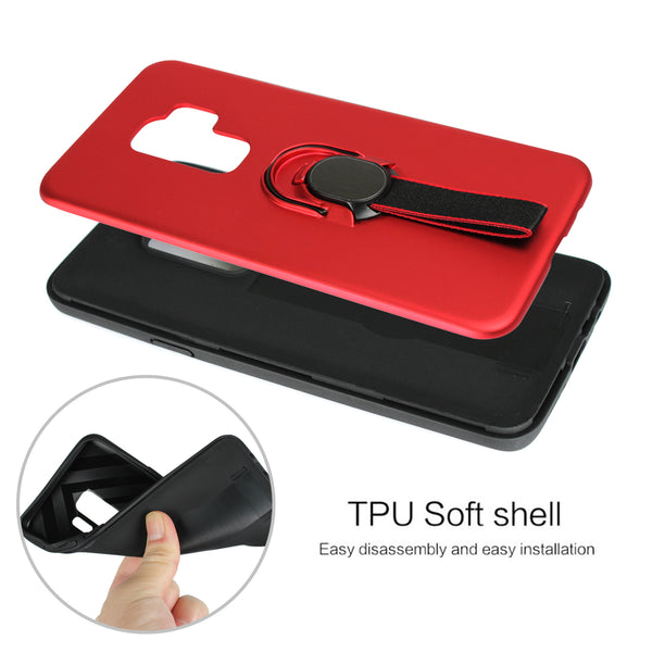 Silicon TPU Magnetic Stand Holder Case For Samsung Galaxy S8 S9 + Note 8 9