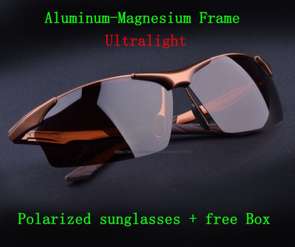 Hot Aluminum Magnesium Alloy Men's Polarized Sunglasses Driving Mirror Glasses