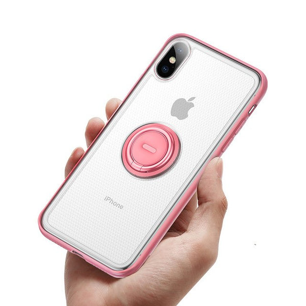 Soft TPU Finger Ring Holder Case For iPhone X XS MAX XR
