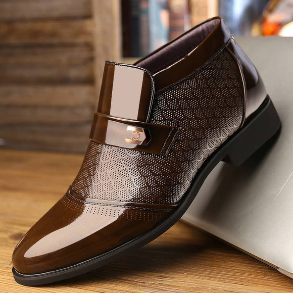 Business Chelsea Mens Winter Leather Boots