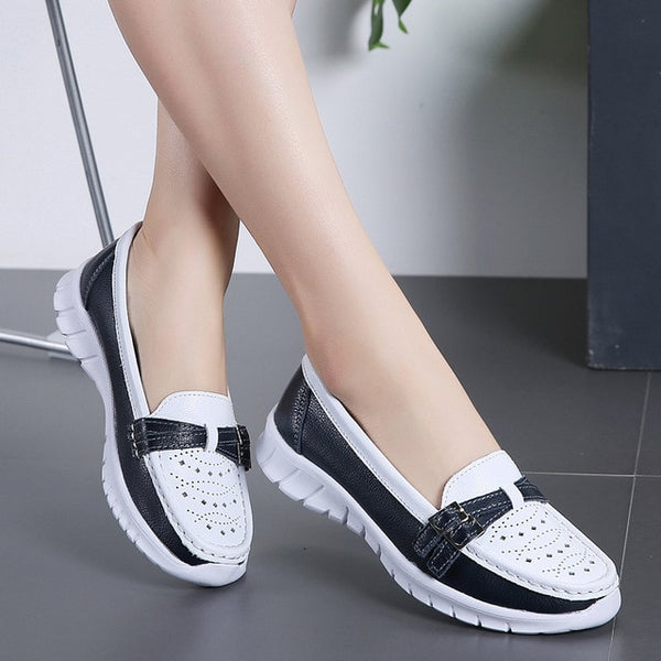2019 Casual Vulcanize Flat Low-cut Zipper Shoes