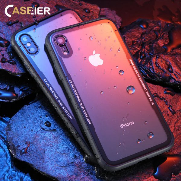 0.7MM Tempered Glass Phone Case for iPhone X XS Max XR