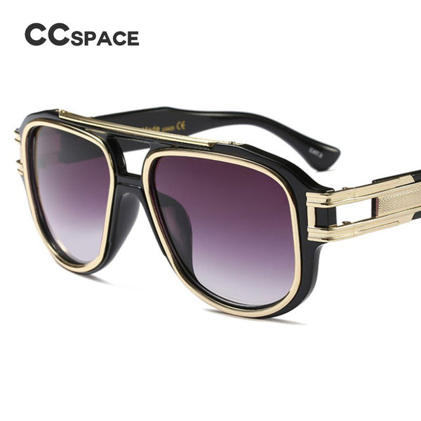 Oversized Metal Thick Frame Square Sunglasses