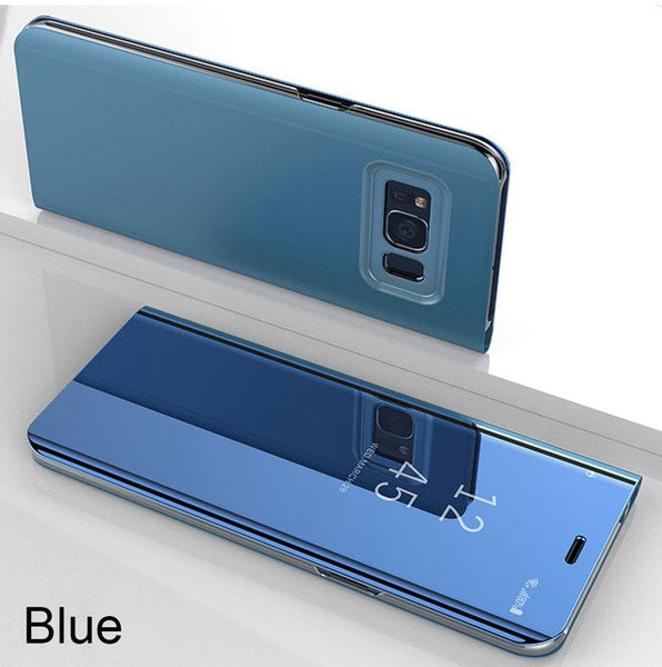 Luxury Smart Mirror Flip Ultra Thin Heavy Duty Shockproof Armor Case For Samsung S10e S10 Plus Note 9 8 S9 S8 Plus S7 Edge