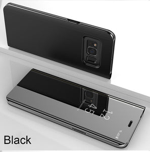 Luxury Smart Mirror Flip Anti-knock Shockproof Case For Samsung S10 plus S10 lite S10 Note 9 8 S9 8 Plus