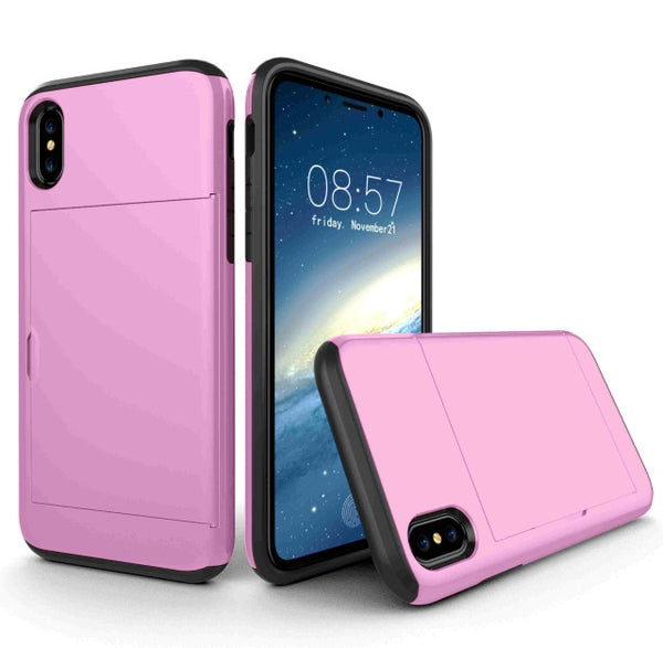 Fashion Wallet Card Holder Cover For iPhone X XR XS Max