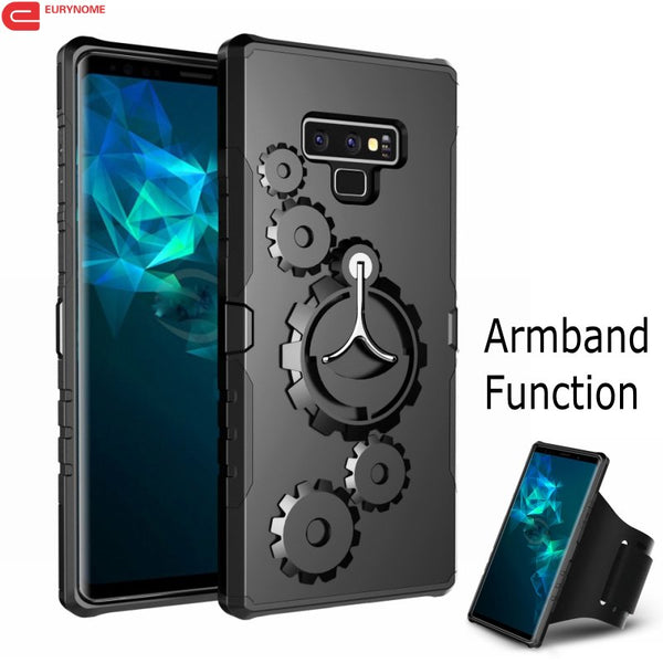 Shockproof Kickstand Arm Band Cover Cases For Samsung S8 S9+ Note 8 9