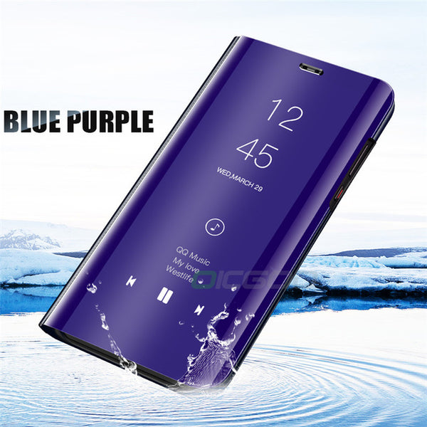 Clear View Mirror Flip Stand Case For Honor 8X Max Huawei P10 P20 Mate 20 Lite Pro