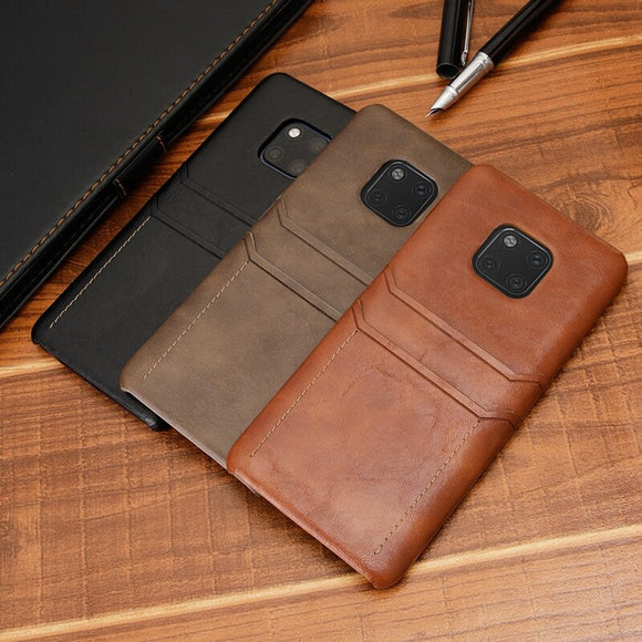 Retro PU Leather Phone Bag Case For Huawei P20 Mate 20 Pro Lite P30 Pro