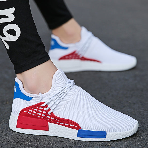 Men Casual Shoes Breathable Air Mesh Slip on Sneakers