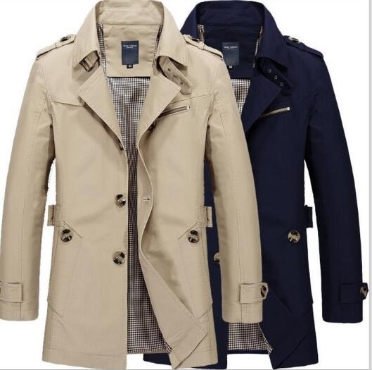 Factory Outlet Male Casual Jacket Long Trench Coat(BUY 2 GET 10% OFF, BUY3 GET 15% OFF)