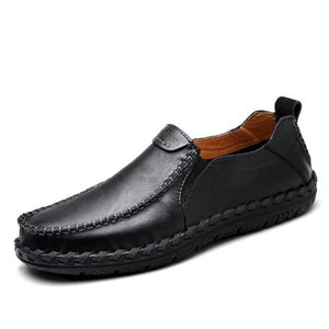 Shoes - Men's Fashion Comfortable Loafers Leather Slip On Shoes